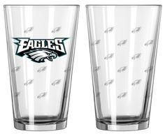 Philadelphia Eagles Satin Etch Pint Glass Set