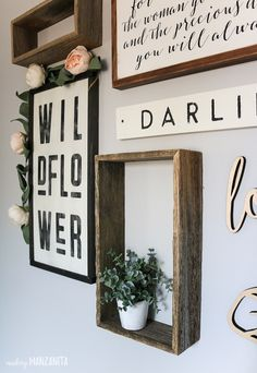 How To Plan Your Gallery Wall Layout (& Nursery Wall Art Reveal), Home Decor, If you're looking for baby girl nursery decor, you're going to love this boho farmhouse gallery wall design! This post has so many rustic nursery idea. Baby Girl Nursery Decor, Rustic Nursery, Nursery Wall Art, Nursery Ideas, Baby Decor, Baby Room, Girl Wall Art, Girl Wall Decor, Nursery Layout