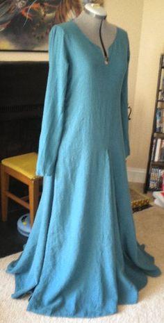 12th century bliaut under gown