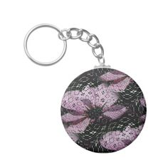 A girly pink and black floral design with cosmos wildflowers covered in black lace pattern.