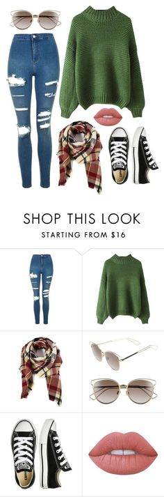"""""""Kid's runway for research"""" by zagl on Polyvore featuring Topshop, Christian Dior, Converse and Lime Crime"""