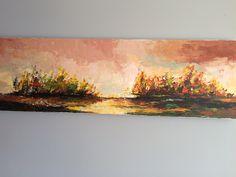 """Autumnal Landscape"",  Acryl auf Leinwand (140x40), Säntis"