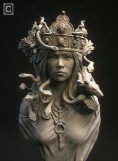 Old Statues Sculpture - Poseidon Statues Aesthetic - Old Statues Men - - Marble Statues Mythology - Poseidon Statues Of The Seas Ancient Greek Sculpture, Greek Statues, Ancient Art, Medusa Kunst, Medusa Art, Portrait Sculpture, Art Sculpture, Metal Sculptures, Abstract Sculpture
