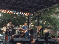 Jeff Bridges and the Abiders warming up earlier today at CarolinaFest!