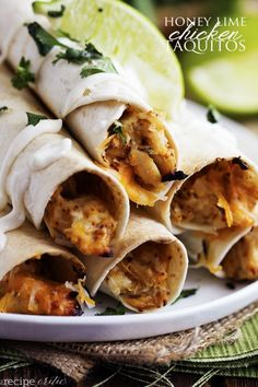 Honey Lime Chicken Taquitos