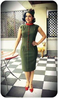 Anastassia - furażerka też dostępna http://www.raspberryheels.com/shop/produkt,pl,dresses,sukienka-anastassia-green.html