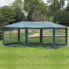 W x 18 Ft. D Aluminum Wall Mounted Patio Gazebo Grill Gazebo, Patio Gazebo, Backyard, Patio Tents, Outdoor Gazebos, Outdoor Structures, Gazebo Canopy, Canopy Cover, Wood Patio
