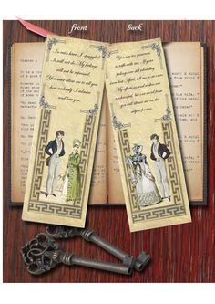 Bookmark - Jane Austen's Pride and Prejudice inspired.