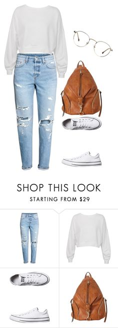 """Simplicity #1"" by woodworthok on Polyvore featuring H&M, Sans Souci, Converse and Diophy"