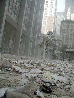 9/11 - Debris on Chase Plaza