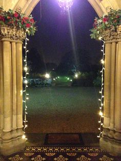 Christmas lights at the Manor