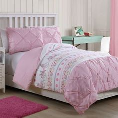 Buy Rosie 2-Piece Reversible Twin Comforter Set in Pink from Bed Bath & Beyond