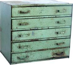 Metal Cabinet III - One Kings Lane - Vintage & Market Finds - Furniture