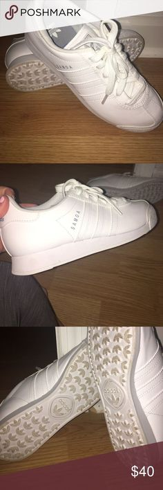 Cool Adidas Shoes Adidas Samoas! Come get your all white shoe ! Perfect for the summer time! These... Check more at http://24shopping.ga/fashion/adidas-shoes-adidas-samoas-come-get-your-all-white-shoe-perfect-for-the-summer-time-these/
