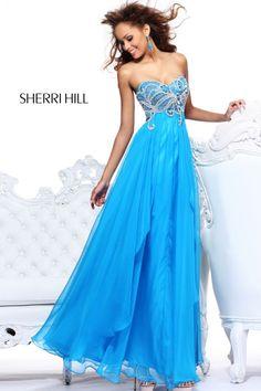 2013 Sherri Hill 3867 Light Blue Homecoming Dresses