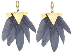 The Artemis earrings consist of vintage brass metal and feathers. Their geometric simplicity and subtle color make them the ideal fashionable earring. Statement Earrings, Drop Earrings, Signature Collection, Brass Metal, Feather Earrings, Artemis, Fashion Earrings, Ibiza, Color