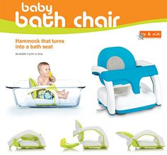2 in 1 Baby Bath Chair- PINK/BLUE