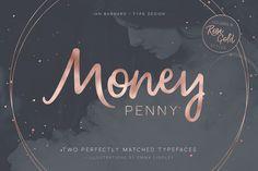 Money Penny - Script & Sans by Ian Barnard on @creativemarket