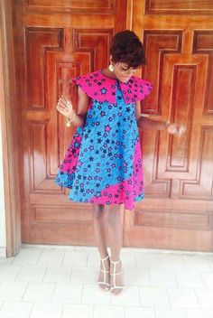 Ankara Xclusive: Latest African Ankara Maternity Gowns & Dresses Styles for Pregnant Ladies Nigeria African Print Dresses, African Dresses For Women, African Attire, African Wear, African Fashion Dresses, African Women, Ghanaian Fashion, African Prints, African Style
