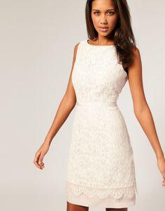 white lacy satin