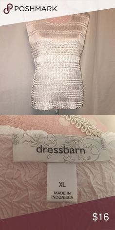 Dress Barn shiny crinkle tank Like new! Dress Barn Tops Tank Tops