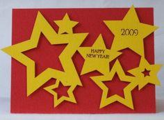 Bright and bold DIY Happy New Year card!