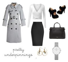 """""""Powerful & Successful Woman"""" by gc-laura on Polyvore featuring moda, Burberry, Roland Mouret y Daniel Wellington"""