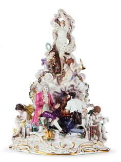 Delve into the history of Europe's first porcelain manufactory, with this exquisite piece by Meissen! Dorotheum Art Blog. Laurel Tree, Laurel Wreath, Flower Garlands, Porcelain Vase, Gold Stars, Floral Motif, Art World, Purple Flowers, Art Blog