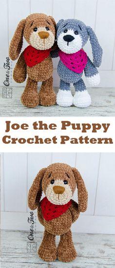 Joe the Puppy Amigurumi - PDF Crochet Pattern - Instant Download - Amigurumi Cuddy Stuff #ad #crochet