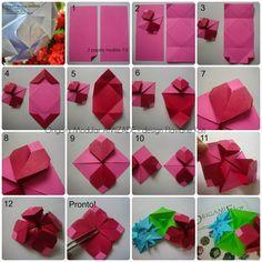 Terapia do Papel: FOTO-TUTORIAL - Origami Modular AMIZADE - design Flaviane Koti - ATUALIZADO