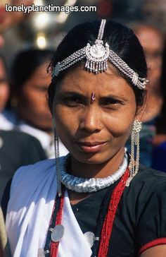 Tharu woman in traditional attire - Nepal.