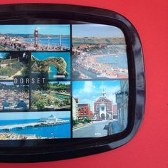 Retro Metal Tray with Photographic Scenes Of Dorset by TheFidorium