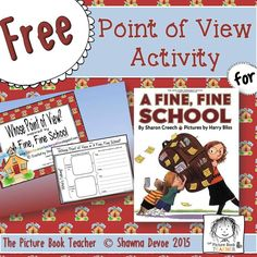 Point of View Activity inspired by A Fine, Fine School by Sharon CreechYou can find Point of view and more on our website.Point of View Activity inspire. Reading Intervention, Reading Skills, Teaching Reading, Reading Strategies, Reading Comprehension, Teaching Ideas, Learning, Authors Point Of View, Sharon Creech