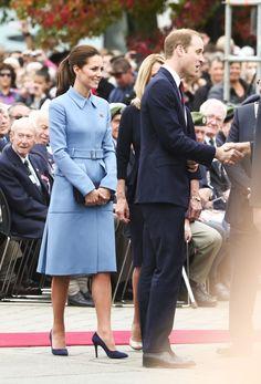 Kate Middleton, Duchess of Cambridge in Alexander McQueen makes an appearance at Blenheim War Memorial.