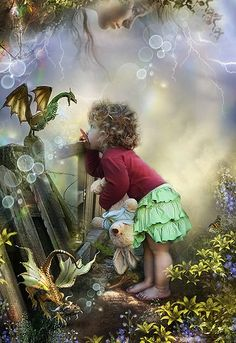 .To see and believe as a child ...... gorgeous way to say it!!!