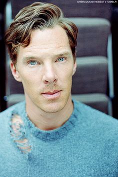 Benedict Cumberbatch ... why's his sweater all- OMG DOESN'T MATTER IT MATCHES HIS EYESSS HELP