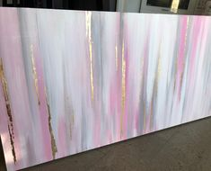 Loving the soft pink and gold of this custom piece I'm working on. Just a few changes and then the resin! Grey Abstract Art, Abstract Canvas Art, Diy Canvas Art, Pink Painting, Painting Art, Resin Wall Art, Grey Wall Art, Pastel Art, Resin Paintings