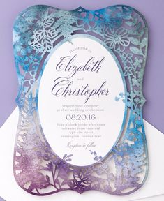 A cutting edge look for a cutting edge couple. Make a luxurious statement with a laser-cut design. Wedding Menu Cards, Personalised Wedding Invitations, Laser Cut Wedding Invitations, Wedding Programs, Wedding Stationery, Event Invitations, Wedding Paper, Our Wedding, Dream Wedding