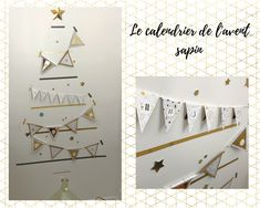 Notre calendrier de l'avent sapin en fanions · How I Play with my mome Deco, Hunting Party, Candlelight Dinner, Advent Calendar, Firs, Deko, Decoration, Decor, Decorating