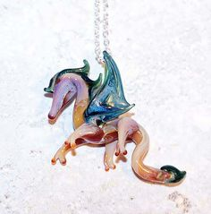 Willa Dragon Lampwork Charm Bead