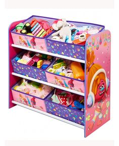 This Trolls Storage Unit is a great addition any bedroom or playroom. With 6 bins to organise and store everything there'll be no excuse to have a messy room any longer! Sturdy and great for any toys, clothes, shoes or books that may be lying around the bedroom, this unit will be sure to have your child tidying in no time!