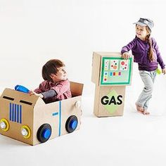 From cardboard boxes to toys for children