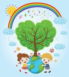 Children holding earth with love stock vector - 14386799 Earth For Kids, Save Our Earth, Save Environment, Environment Concept Art, Art Drawings For Kids, Drawing For Kids, Save Earth Posters, Earth Day Drawing, Kids Hugging