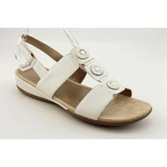 Easy Spirit Women's Heartbeat Sling Sandals, White, 11 M/B -- Want additional info? Click on the image.