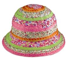 6190f5aa0e8 Floral Ribbon Bucket Sun Hat - Pink   Multi-colored (Girls - Ages 2-8)