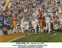 SUPER BOWL VII  | Super Bowl VII Dolphins vs. Redskins | Flickr - Photo Sharing!
