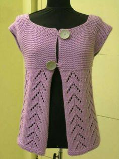 Hand Knitting Women's Sweaters - Knitting and Crochet - Diy Crafts Knitting, Creative Knitting, Crochet Buttons, Knit Crochet, Lace Knitting, Knitting Patterns, Tricot D'art, Knit Vest Pattern, Knitting Magazine