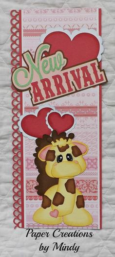 baby new arrival girl border  Paper piecing for scrapbooking page album  ~ DT Mindy