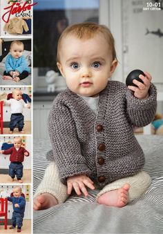 - Retstrikket basismodel til baby fra Järbo Knitting For Kids, Baby Knitting Patterns, Baby F, Baby Kids, Baby Barn, Crochet Baby Clothes, Baby Outfits, Baby Vest, New Baby Products