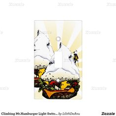 Climbing Mt.Hamburger Light Switch Cover